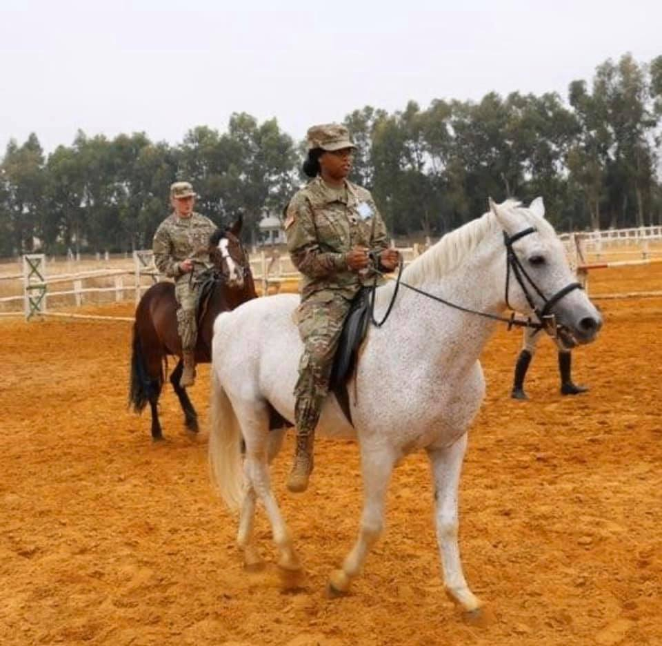 Cadet Kilgore riding a horse during CULP