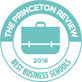The logo for the Princeton Review Best Business Schools award.