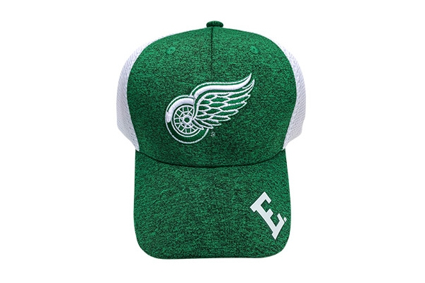 Green hat with Red Wings logo