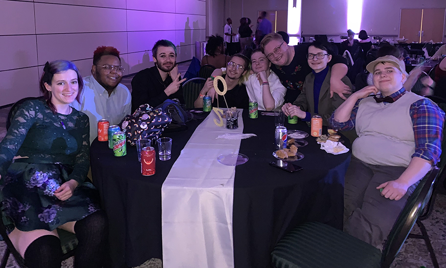 A group of students celebrate Pride Prom