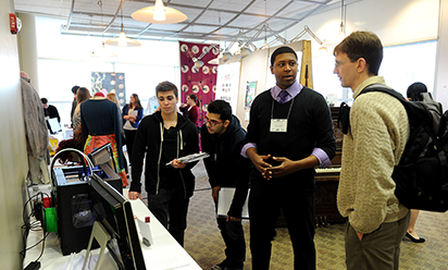 students at undergraduate symposium