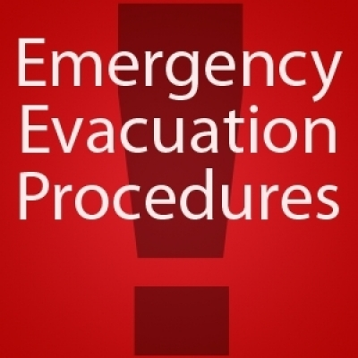 Evac procedures exclamation point